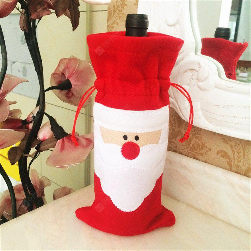 Creative Santa Claus Red Wine Bottle Bag Christmas Decoration