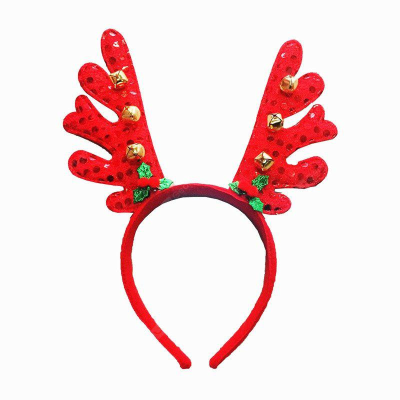 Fashion Deer Bell Head Band Christmas Decorations