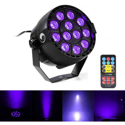U`King 12LEDS Purple Color Dmx Sound Activated Par Stage Lighting with Remote Control