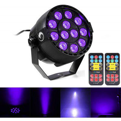 Buy BLACK US U`King 36W 12 Leds Purple Par Light Auto Dmx Sound Active Stage Effect Lighting with 2 Remote Control for $24.21 in GearBest store
