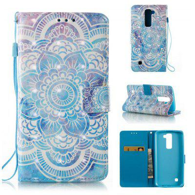 Buy BLUE 3D Painted Pu Phone Case for Lg K8 / K7 for $5.45 in GearBest store