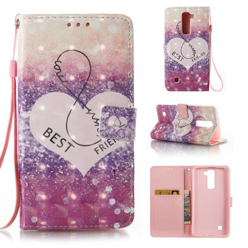 PURPLE 3D Painted Pu Phone Case for Lg K8 / K7