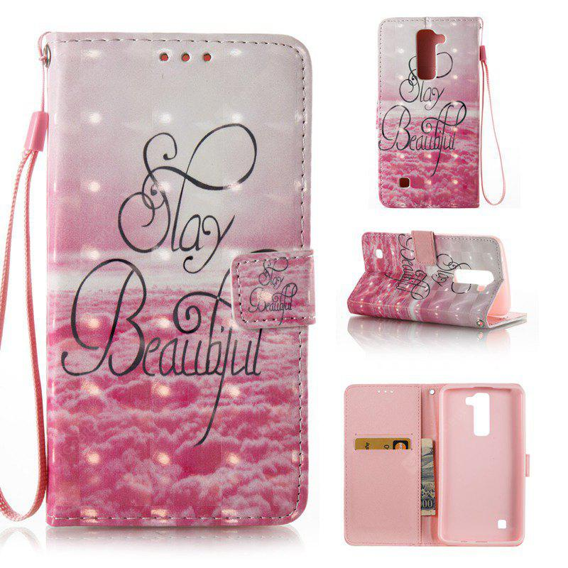 PINK 3D Painted Pu Phone Case for Lg K8 / K7