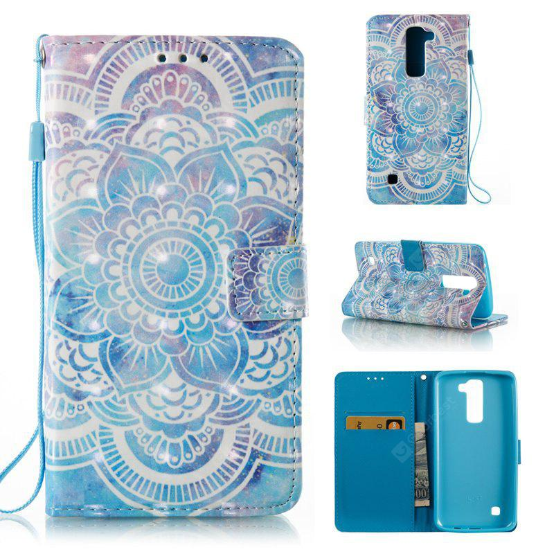 BLUE 3D Painted Pu Phone Case for Lg K8 / K7