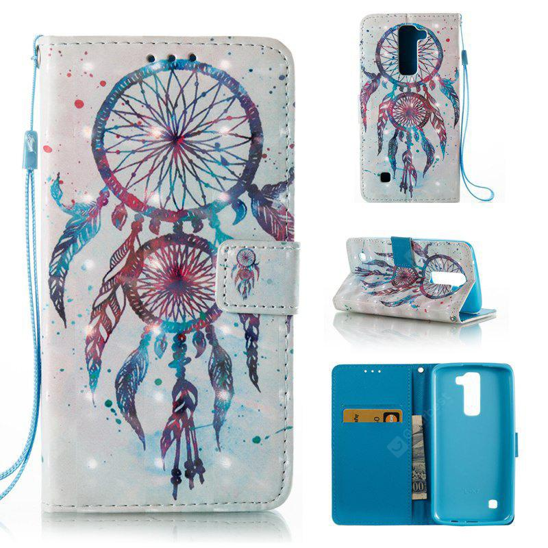WHITE + BLUE 3D Painted Pu Phone Case for Lg K8 / K7