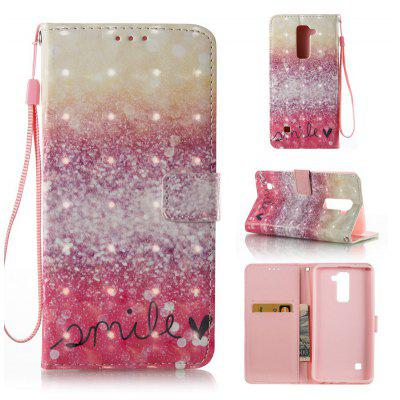 Buy GOLD AND PINK 3D Painted Pu Phone Case for Lg Ls775 / Stylus2 for $5.64 in GearBest store