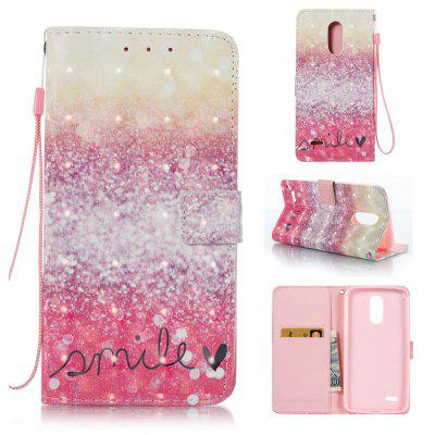 Buy GOLD AND PINK 3D Painted Pu Phone Case for Lg Stylus3 for $5.66 in GearBest store