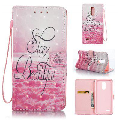 Buy PINK 3D Painted Pu Phone Case for Lg Stylus3 for $5.66 in GearBest store
