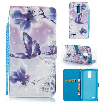 Buy WHITE + PURPLE 3D Painted Pu Phone Case for Lg Stylus3 for $5.66 in GearBest store