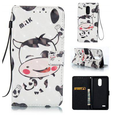 Buy WHITE AND BLACK 3D Painted Pu Phone Case for Lg Stylus3 for $5.66 in GearBest store