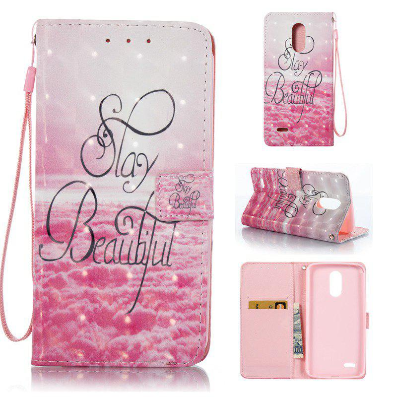 PINK 3D Painted Pu Phone Case for Lg Stylus3