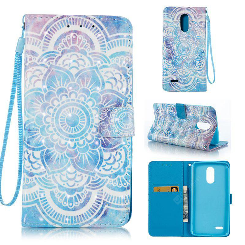 BLUE 3D Painted Pu Phone Case for Lg Stylus3