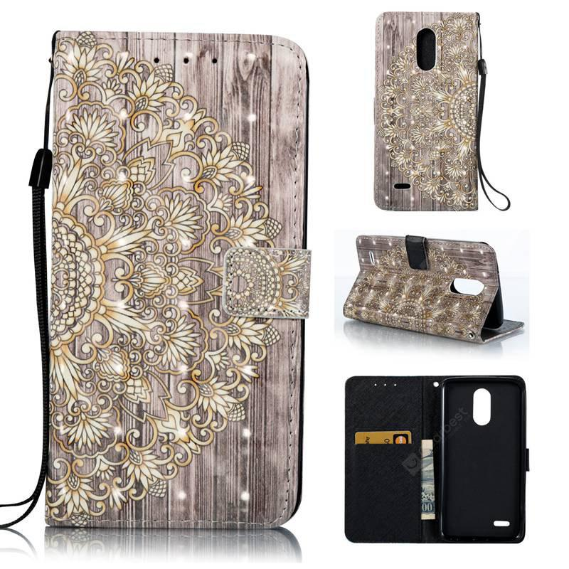 GOLDEN 3D Painted Pu Phone Case for Lg Stylus3
