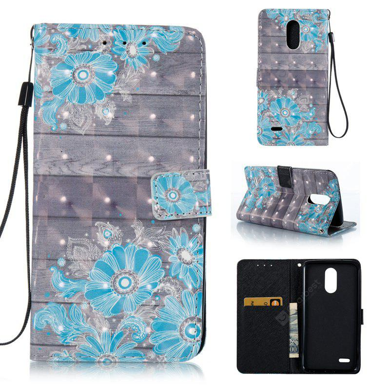 WINDSOR BLUE 3D Painted Pu Phone Case for Lg Stylus3