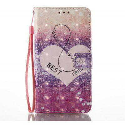 Buy PURPLE 3D Painted Pu Phone Case for Huawei P9 Lite for $5.51 in GearBest store