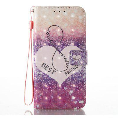 Buy PURPLE 3D Painted Pu Phone Case for Huawei P8 Lite 2017 for $5.59 in GearBest store