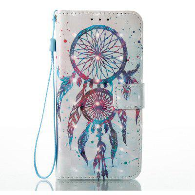 Buy WHITE + BLUE 3D Painted Pu Phone Case for Huawei P8 Lite 2017 for $6.36 in GearBest store