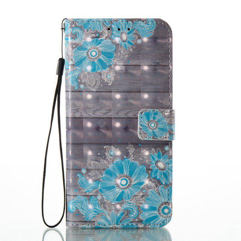 WINDSOR BLUE 3D Painted Pu Phone Case for Huawei P8 Lite 2017