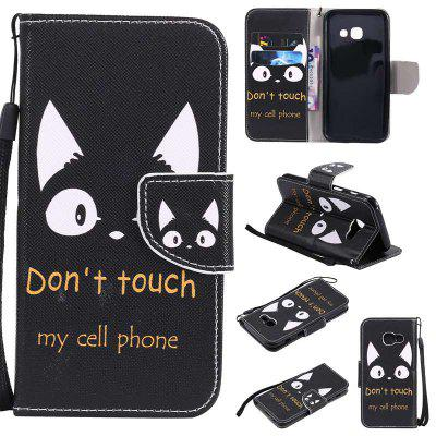 Painted Pu Phone Case for Samsung Galaxy A3 2017
