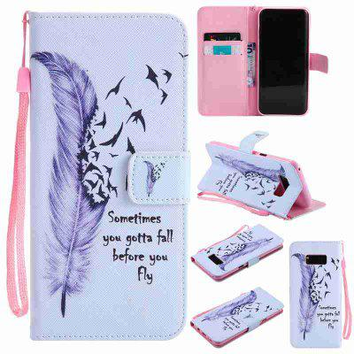 Buy BLUE Painted Pu Phone Case for Samsung Galaxy S8 Plus for $5.21 in GearBest store