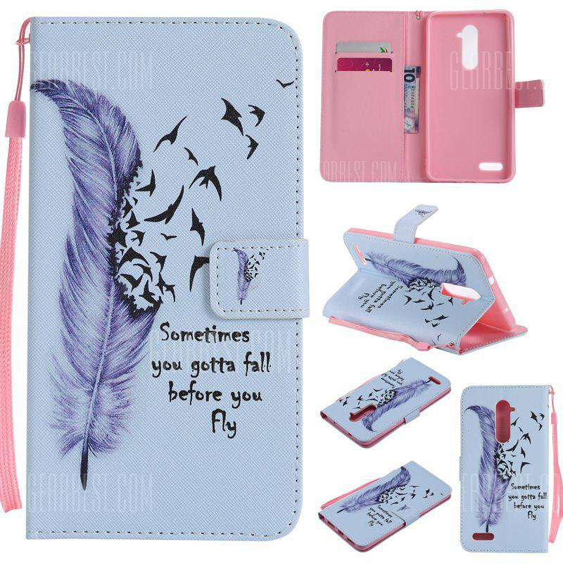 BLUE Painted Pu Phone Case for Zte Z981