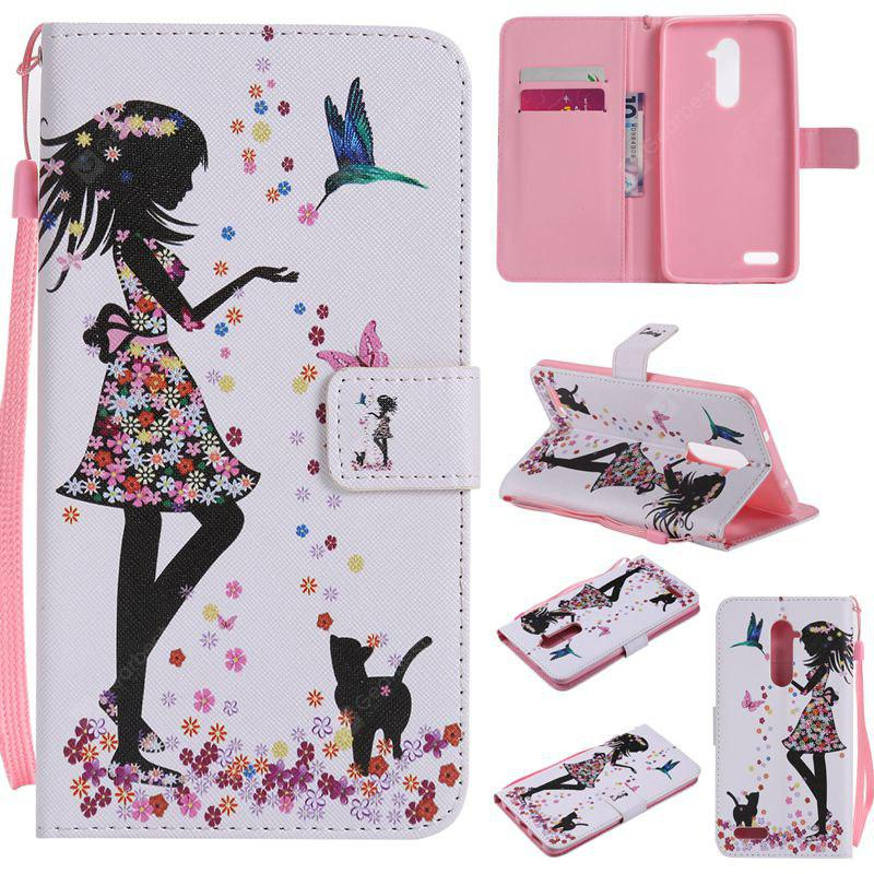 COLORMIX Painted Pu Phone Case for Zte Z981