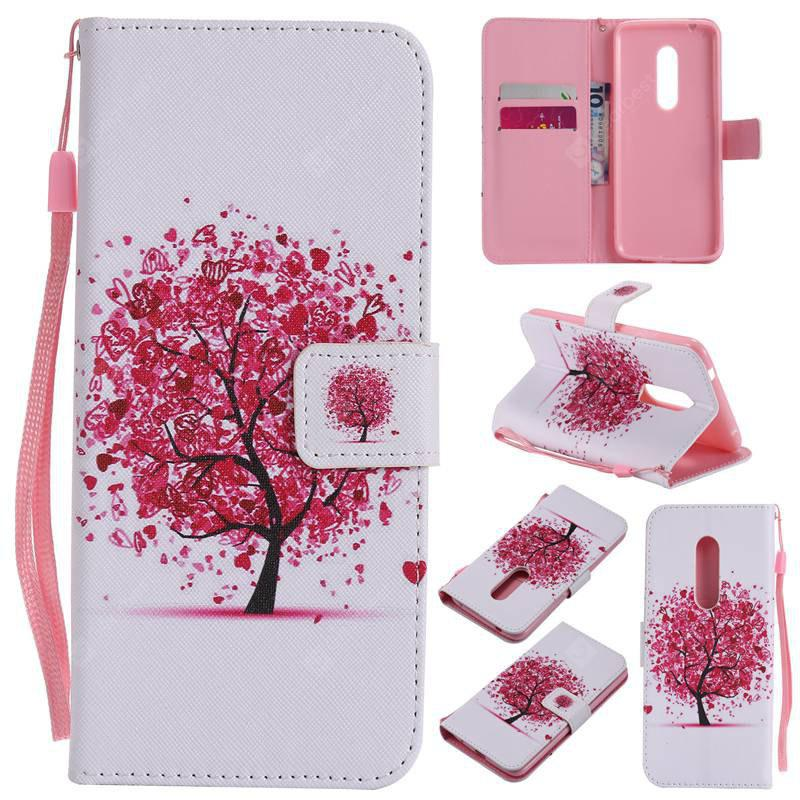 FLAME Painted Pu Phone Case for Zte Axon 7