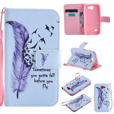 Buy BLUE Painted Pu Phone Case for Lg K3 2017 for $5.04 in GearBest store