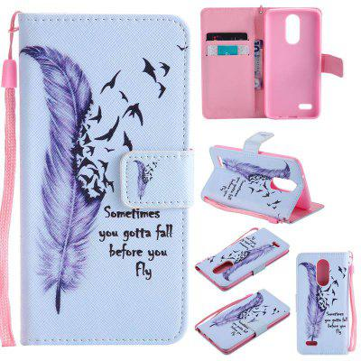 Buy BLUE Painted Pu Phone Case for Lg K8 2017 / Lv3 for $5.05 in GearBest store
