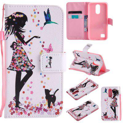 Buy COLORMIX Painted Pu Phone Case for Lg K10 2017 / Lv5 for $5.18 in GearBest store