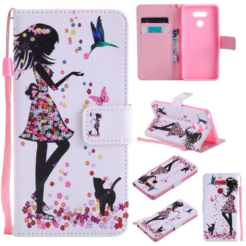 COLORMIX Painted Pu Phone Case for Lg G6
