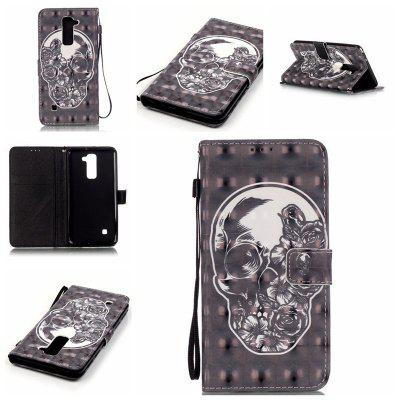 Buy BLACK New 3D Painted Pu Phone Case for Lg Ls775 / Stylus2 for $5.64 in GearBest store