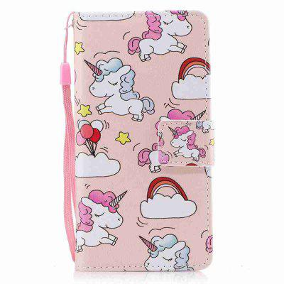 Buy LIGHT PINK Classic Painted Pu Phone Case for Huawei P10 Lite for $5.43 in GearBest store