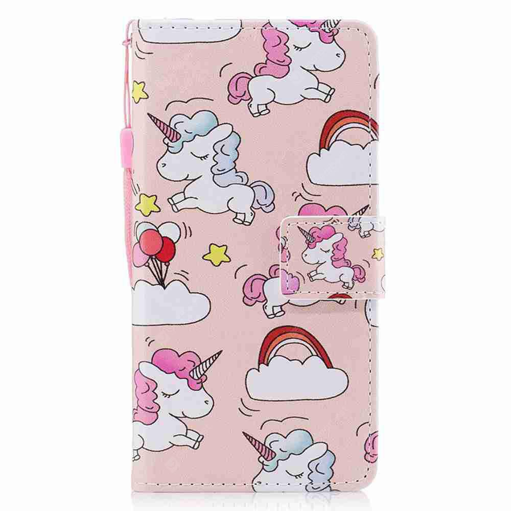 LIGHT PINK Classic Painted Pu Phone Case for Huawei P8 Lite 2017