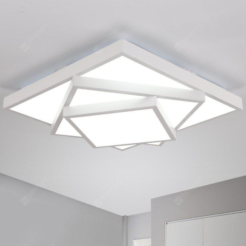 Ever Flower Square Triple Tier Painted Finish LED Ceiling Light