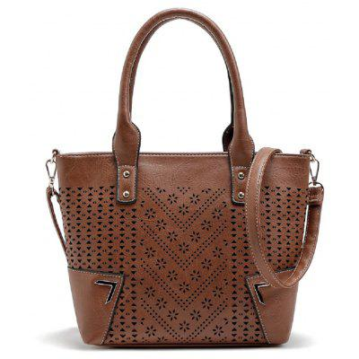 Buy BROWN 1PC High Quality Pu Leahterbag Ladies 2017 New Fashion Hollow Out Women Messenger Bags Handbags Women Famous Brand Designer Tote for $22.95 in GearBest store