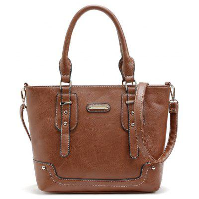 Buy BROWN 1PC High Quality Pu Leahterbag Ladies 2017 New Fashion Women Messenger Bags Handbags Women Famous Brand Designer Tote for $23.00 in GearBest store
