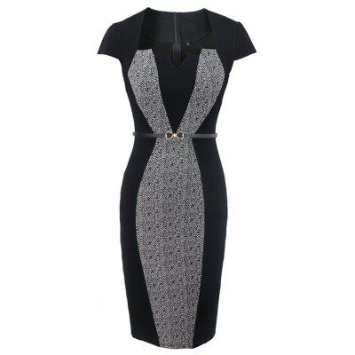 Optical Illusion Contrast Belted 2017 Women Autumn Vintage Slim Work Office Business Party Bodycon DressBodycon Dresses<br>Optical Illusion Contrast Belted 2017 Women Autumn Vintage Slim Work Office Business Party Bodycon Dress<br><br>Dresses Length: Knee-Length<br>Elasticity: Micro-elastic<br>Embellishment: Sashes<br>Fabric Type: Jersey<br>Material: Polyester, Spandex<br>Neckline: Jewel Neck<br>Package Contents: 1 x Dress 1xBelt<br>Pattern Type: Others<br>Season: Fall, Spring, Summer<br>Silhouette: Sheath<br>Sleeve Length: Short Sleeves<br>Style: Vintage<br>Weight: 0.4000kg<br>With Belt: Yes