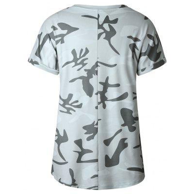 Camouflage Round Collar T-ShirtTees<br>Camouflage Round Collar T-Shirt<br><br>Collar: Round Neck<br>Elasticity: Micro-elastic<br>Fabric Type: Twill<br>Material: Polyester<br>Package Contents: 1 ? T-Shirt<br>Pattern Type: Print<br>Shirt Length: Regular<br>Sleeve Length: Short<br>Style: Active<br>Weight: 0.2000kg