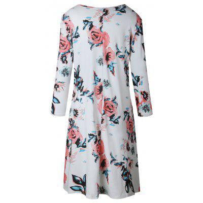 Floral Print Long Sleeve Round Neck DressWomens Dresses<br>Floral Print Long Sleeve Round Neck Dress<br><br>Dresses Length: Knee-Length<br>Elasticity: Micro-elastic<br>Fabric Type: Twill<br>Material: Polyester<br>Neckline: Round Collar<br>Package Contents: 1 ? Dress<br>Pattern Type: Floral<br>Season: Fall<br>Silhouette: A-Line<br>Sleeve Length: 3/4 Length Sleeves<br>Style: Casual<br>Weight: 0.3500kg<br>With Belt: No