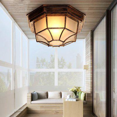 Buy RUST Lanshi 1 Light Vintage Metal Ceiling Lamp with Glass Shade for $67.68 in GearBest store