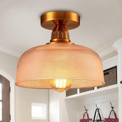 Lanshi Modern Brass Ceiling Light with Clear Glass Shade
