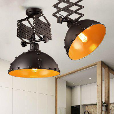 Lanshi Industrial Vintage Pendant Light E26 / E27 1PCFlush Ceiling Lights<br>Lanshi Industrial Vintage Pendant Light E26 / E27 1PC<br><br>Battery Included: No<br>Brand: Lanshi<br>Bulb Base: E26,E27<br>Bulb Included: No<br>Certifications: CE,FCC<br>Chain / Cord Adjustable or Not: Chain / Cord Adjustable<br>Chain / Cord Length ( CM ): 125<br>Decoration Material: Metal<br>Dimmable: No<br>Features: Designers<br>Finish: Black,Gold<br>Fixture Height ( CM ): 22<br>Fixture Length ( CM ): 31<br>Fixture Material: Metal<br>Fixture Width ( CM ): 31<br>Light Direction: Downlight<br>Number of Bulb: 1 Bulb<br>Number of Bulb Sockets: 1<br>Package Contents: 1 ? Pendant Light, 1 ? Installation Instruction<br>Package size (L x W x H): 50.00 x 35.00 x 35.00 cm / 19.69 x 13.78 x 13.78 inches<br>Package weight: 3.6000 kg<br>Product size (L x W x H): 31.00 x 31.00 x 22.00 cm / 12.2 x 12.2 x 8.66 inches<br>Product weight: 3.2000 kg<br>Remote Control Supported: No<br>Shade Material: Metal<br>Style: Artistic Style, Country, Vintage antique<br>Suggested Room Size: 10 - 15?<br>Suggested Space Fit: Bedroom,Cafes,Dining Room,Entry,Hallway,Indoors,Living Room,Office<br>Type: Pendant Light<br>Voltage ( V ): 110-120,220V - 240V<br>Wattage per Bulb ( W ): 60