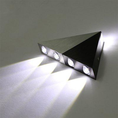 Brightness Modern Triangle 5W LED Wall Sconce 85 - 265VWall Lights<br>Brightness Modern Triangle 5W LED Wall Sconce 85 - 265V<br><br>Brand: Brightness<br>Bulb Base: LED Integrated<br>Bulb Included: Yes<br>Color Temperature or Wavelength: 6000k<br>Finish: Aluminum<br>Fixture Material: Metal<br>Light Source Color: White<br>Number of Bulbs: 5<br>Package Contents: 1 x Wall Light, 1 x Assembly Parts<br>Package size (L x W x H): 25.00 x 13.00 x 5.00 cm / 9.84 x 5.12 x 1.97 inches<br>Package weight: 0.3500 kg<br>Power Supply: AC Power<br>Product weight: 0.3000 kg<br>Production Mode: Self-produce<br>Selling Point: Bulb Included,LED,Mini Style<br>Style: Simple, Modern/Contemporary<br>Type: Wall Sconces<br>Voltage: 85-265V<br>Wattage: 5W<br>Wattage per Bulb ( W ): 1