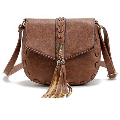Buy BROWN 1PC Casual Shoulder Bags Women Small Messenger Bags Ladies Handbag with Tassel Female Crossbody Bag Saddle Bolsas Torebki Damskie for $20.96 in GearBest store