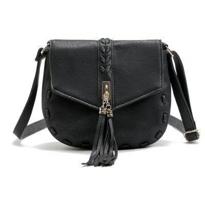 Buy BLACK 1PC Casual Shoulder Bags Women Small Messenger Bags Ladies Handbag with Tassel Female Crossbody Bag Saddle Bolsas Torebki Damskie for $20.96 in GearBest store