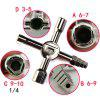 Multi-function 10 in 1 Triangle Emergency Key Wrench - BLACK