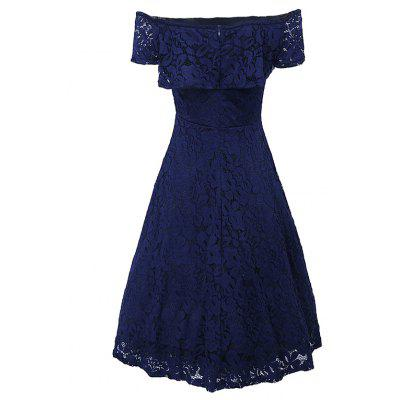 Sexy Off Shoulder Floral Lace Party Swing Dresses Women Dress Cascading Ruffle Lace Casual Formal A Line DressMaxi Dresses<br>Sexy Off Shoulder Floral Lace Party Swing Dresses Women Dress Cascading Ruffle Lace Casual Formal A Line Dress<br><br>Dresses Length: Knee-Length<br>Elasticity: Elastic<br>Embellishment: Lace<br>Fabric Type: Lace<br>Material: Lace, Polyester<br>Neckline: Slash Neck<br>Package Contents: 1 x Dress<br>Pattern Type: Others<br>Season: Summer<br>Silhouette: A-Line<br>Sleeve Length: Short Sleeves<br>Sleeve Type: Off The Shoulder<br>Style: Sexy &amp; Club<br>Weight: 0.4710kg<br>With Belt: No