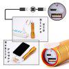 U`King Cree T6 1000LM 3 Mode Rechargeable Built-In Battery Multifunctional Zoomable Flashlight Torch - GOLDEN
