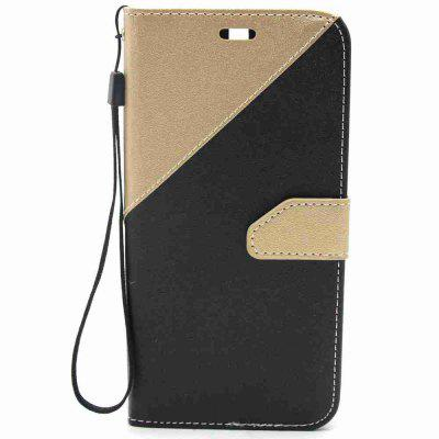 Buy BLACK AND GOLDEN Stitching Style Golden Beach Pu Phone Case for Huawei P10 Plus for $4.99 in GearBest store